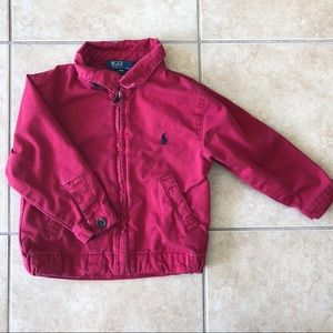 Red PoloRL light collared jacket